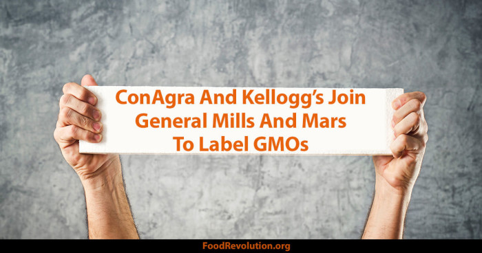 ConAgra And Kellogg's Join General Mills And Mars To Label GMOs