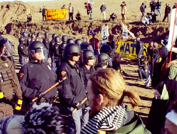 DAPL Crackdown Continues With Rubber Bullets and Mace As Water Protectors Form New Front Line Read more at http://indiancountrytodaymedianetwork.com/2016/10/24/dapl-crackdown-continues-rubber-bullets-and-mace-water-protectors-form-new-front-line