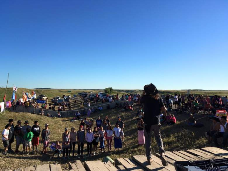"Reader, 7-min video: ""Militarized Police Raid Standing Rock Protest, Point Guns at Protestors"""