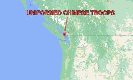 UNIFORMED CHINESE TROOPS ON SALT SPRING ISLAND (VANCOUVER) B.C. CANADA