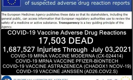 17,503 DEAD, 1.7 Million Injured (50% SERIOUS) Reported in European Union's Database of Adverse Drug Reactions for COVID-19 Shots