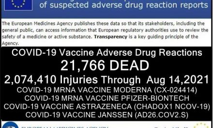 21,766 DEAD Over 2 Million Injured (50% SERIOUS) Reported in European Union's Database of Adverse Drug Reactions for COVID-19 Shots