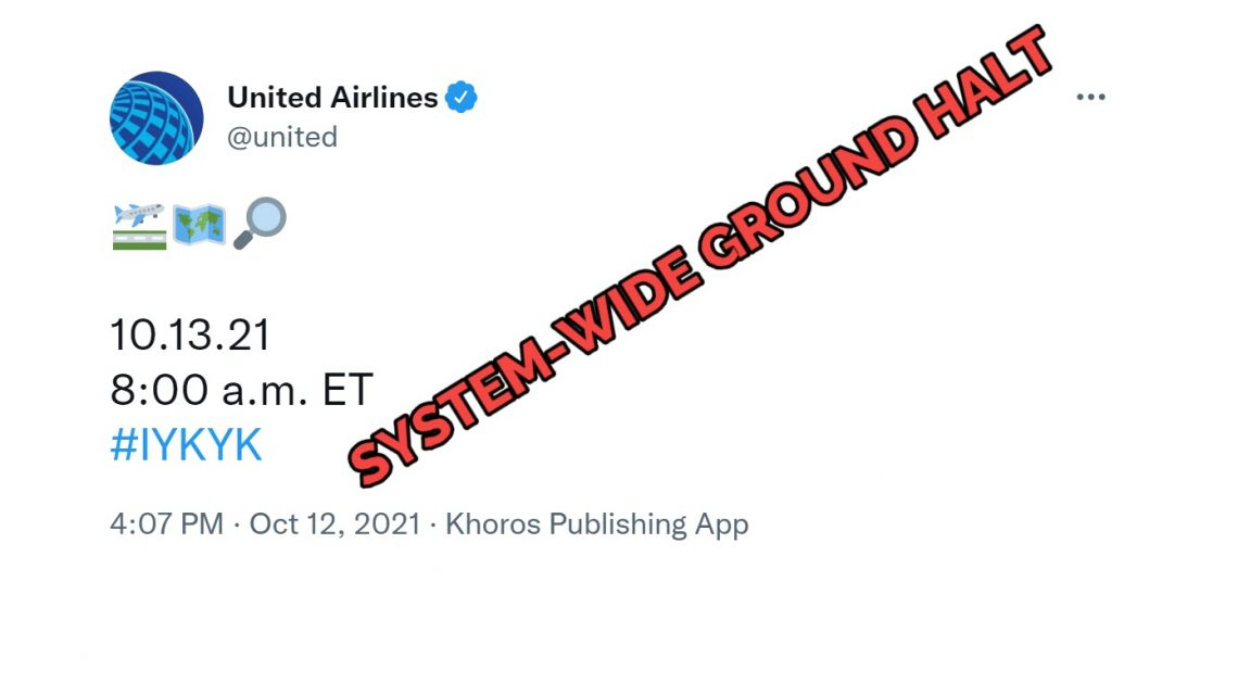 UNITED AIRLINES – ALL PLANES GROUND-HALTED
